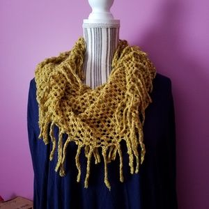 Accessories - Octavia beau fringe infinity scarf in mustard